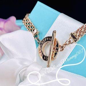 Tiffany & Co. Tiffany Somerset Rubedo Metal Mesh Toggle Bracelet